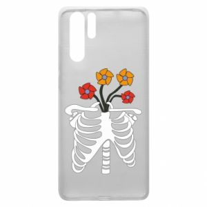 Etui na Huawei P30 Pro Bones with flowers