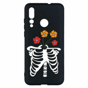 Etui na Huawei Nova 4 Bones with flowers