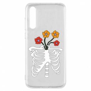 Etui na Huawei P20 Pro Bones with flowers