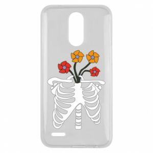 Etui na Lg K10 2017 Bones with flowers
