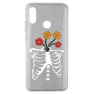 Etui na Huawei Honor 10 Lite Bones with flowers