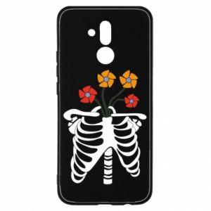 Etui na Huawei Mate 20 Lite Bones with flowers