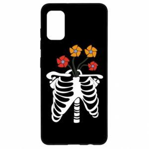 Etui na Samsung A41 Bones with flowers