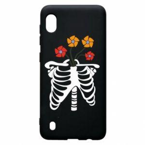Etui na Samsung A10 Bones with flowers