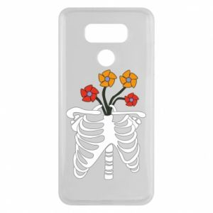 Etui na LG G6 Bones with flowers