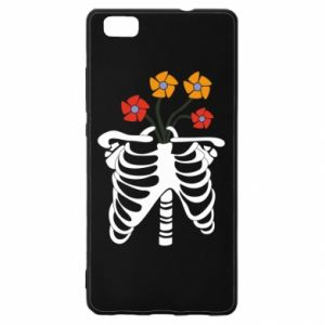 Etui na Huawei P 8 Lite Bones with flowers