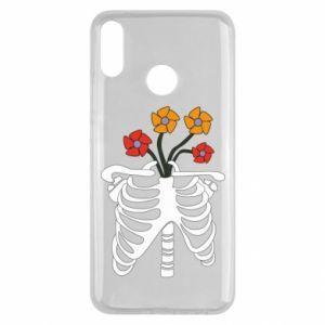 Etui na Huawei Y9 2019 Bones with flowers