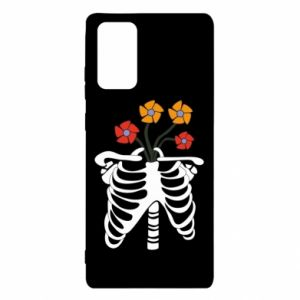 Etui na Samsung Note 20 Bones with flowers