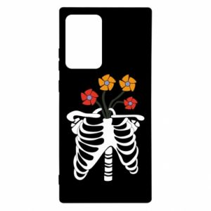 Etui na Samsung Note 20 Ultra Bones with flowers