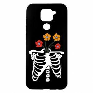 Etui na Xiaomi Redmi Note 9/Redmi 10X Bones with flowers