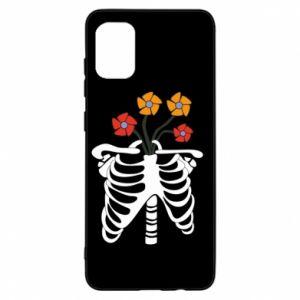 Etui na Samsung A31 Bones with flowers