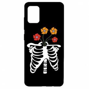 Etui na Samsung A51 Bones with flowers