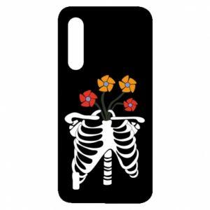 Etui na Xiaomi Mi9 Lite Bones with flowers
