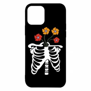 Etui na iPhone 12/12 Pro Bones with flowers