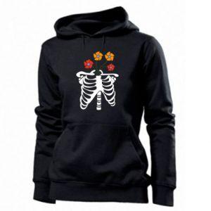 Women's hoodies Bones with flowers