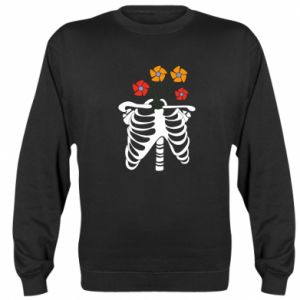 Bluza (raglan) Bones with flowers