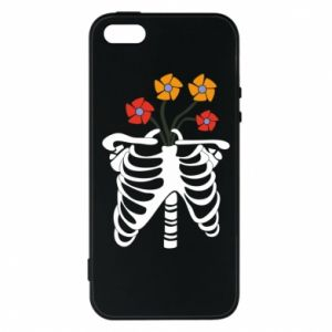 Phone case for iPhone 5/5S/SE Bones with flowers