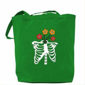 Bag Bones with flowers