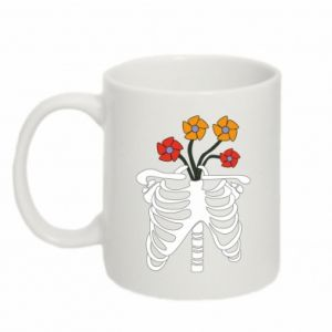 Kubek 330ml Bones with flowers