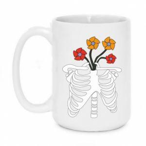 Kubek 450ml Bones with flowers