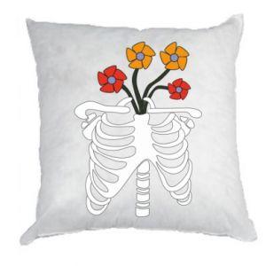 Poduszka Bones with flowers