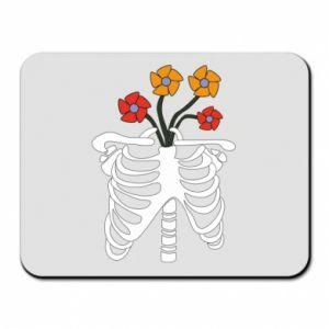 Podkładka pod mysz Bones with flowers