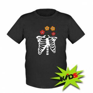 Kids T-shirt Bones with flowers