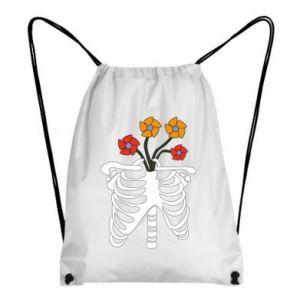 Backpack-bag Bones with flowers