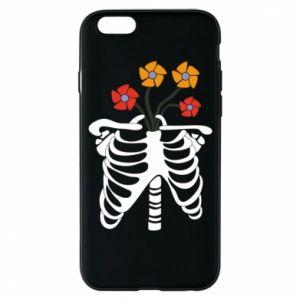 Etui na iPhone 6/6S Bones with flowers