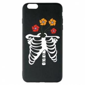 Phone case for iPhone 6 Plus/6S Plus Bones with flowers