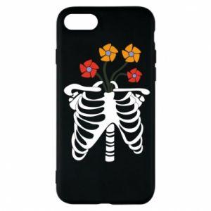 Etui na iPhone 7 Bones with flowers