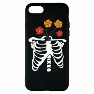 Phone case for iPhone 8 Bones with flowers