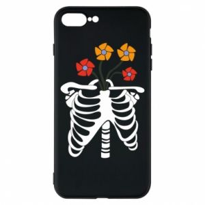 Etui na iPhone 8 Plus Bones with flowers