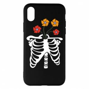 Phone case for iPhone X/Xs Bones with flowers