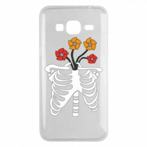 Phone case for Samsung J3 2016 Bones with flowers