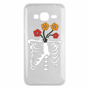 Etui na Samsung J3 2016 Bones with flowers