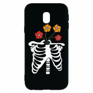 Etui na Samsung J3 2017 Bones with flowers