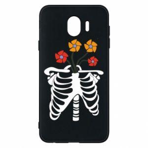 Etui na Samsung J4 Bones with flowers
