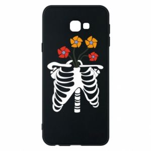 Phone case for Samsung J4 Plus 2018 Bones with flowers