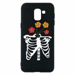 Etui na Samsung J6 Bones with flowers