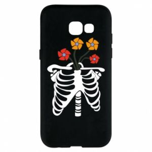 Phone case for Samsung A5 2017 Bones with flowers