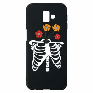 Phone case for Samsung J6 Plus 2018 Bones with flowers