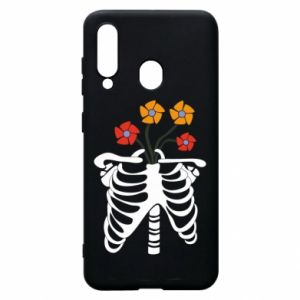 Phone case for Samsung A60 Bones with flowers