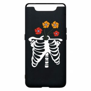 Etui na Samsung A80 Bones with flowers