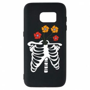 Phone case for Samsung S7 Bones with flowers