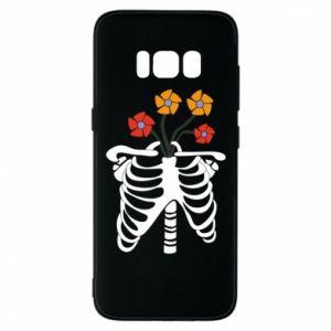 Etui na Samsung S8 Bones with flowers