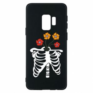 Etui na Samsung S9 Bones with flowers