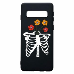 Phone case for Samsung S10 Bones with flowers