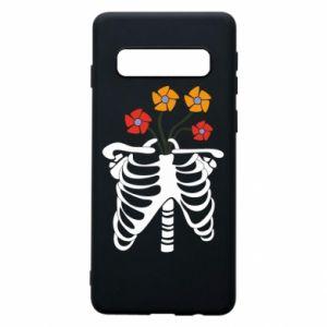 Etui na Samsung S10 Bones with flowers