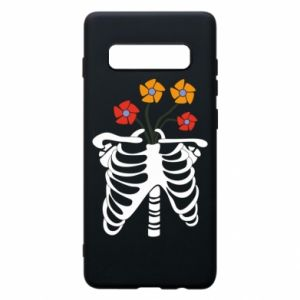 Etui na Samsung S10+ Bones with flowers